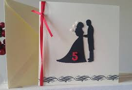 5th anniversary card for husband fiancee unique