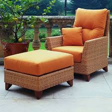 patio furniture with ottomans patio chairs with ottomans rausch outdoor wicker lounge chair
