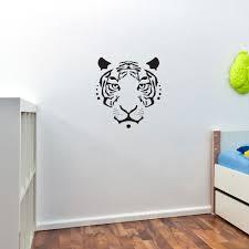 28 tiger wall stickers tiger wall decal big cat sticker tiger wall stickers tiger face vinyl art wall decal sticker cool design ebay