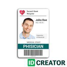 doctor id cards cheap id badges easy online id maker