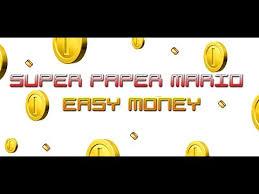easy money golden card paper mario tutorial
