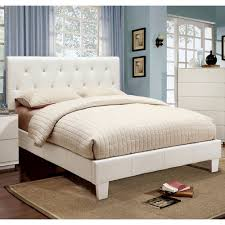 Platform Beds White Furniture Of America Avara Rhinestone Tufted Platform Bed Hayneedle