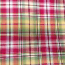 Red Plaid Upholstery Fabric French Country Plaid Fabric Red Yellow And Green Plaid Fabric
