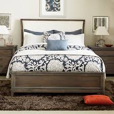 park studio fabric upholstered sleigh bed in weathered taupe by