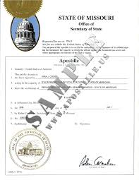 authentications of documents state missouri