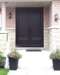 Stain For Fiberglass Exterior Doors 2 Panel Cambered Top Cherry Grain Fiberglass Door In Walnut
