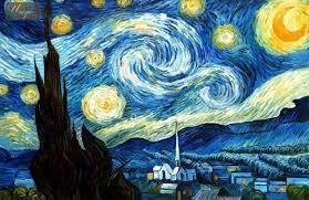 van gogh starry night painting technique