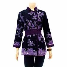 gambar model baju batik modern 30 gambar baju batik untuk kerja dan pesta contohbusanamuslim com