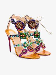 christian louboutin crystal embellished stiletto heeled sandals