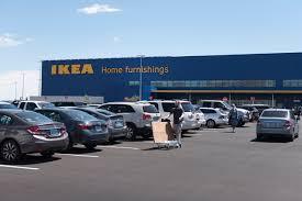 ikea parking lot crowds swarm new ikea store in las vegas on opening day las