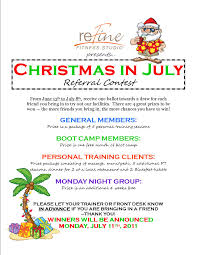 christmas in july refine fitness studio