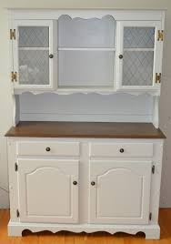 Solid Wood Buffet And Hutch Solid Oak Hutch In White With Stained Top U2013 At Number 10
