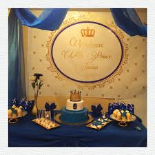 Royal Crown Home Decor Gold And Royal Blue Prince Crown Baptism Christening