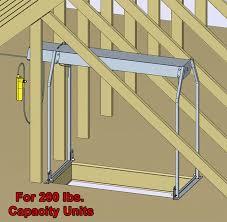 attic lift truss legs kit