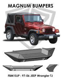 jeep rubicon winch bumper 97 06 jeep wrangler tj magnum winch front bumper