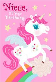 birthday cards for niece unicorn birthday card for niece greeting cards hallmark