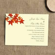 cheap fall wedding invitations orange maple leaves simple fall wedding invitations iwi258