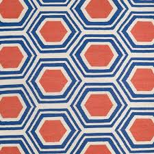Jill Rosenwald Rugs Hex Blue U0026 Orange Jill Rosenwald