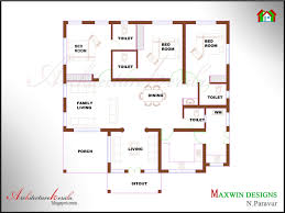 Kerala Home Plan Single Floor New 3 Bhk Single Floor Kerala House