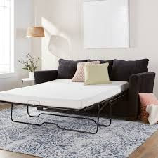 memory foam sofa bed comfort dreams 4 5 inch queen size memory foam sofa sleeper mattress