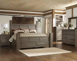 Ashley Furniture Bedroom Nightstands Ashley Juararo Storage Bed Mathis Brothers Furniture