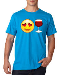 wine emoji new way 345 unisex t shirt emoji smiley face heart eyes love