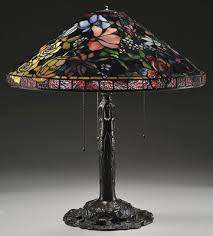 Glass Lamp Shades For Table Lamps The Sum Of Its Parts Leaded Glass Lamp Anatomy Antique Trader
