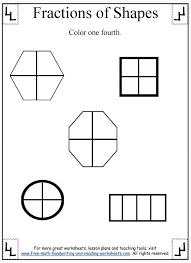 fractions worksheet dividing shapes
