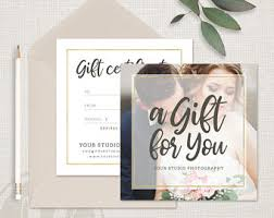 photography gift certificate template photoshop template