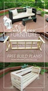 Build Outside Wooden Table by Best 25 Homemade Outdoor Furniture Ideas On Pinterest Outdoor