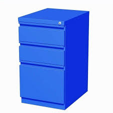 Mobile File Cabinet Hirsh Industries 3 Drawer Mobile File Cabinet In Blue Walmart Com