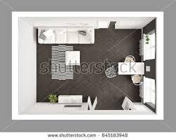 Dining Room With Sofa Bright Minimalist Living Room Sofa Dining Stock Illustration