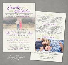 wedding invitation program lavender wedding invitation and program jeneze designs