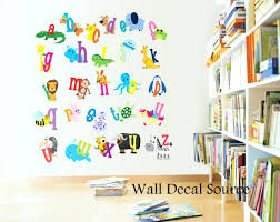 Fabric Wall Decals For Nursery Nursery Safari Wall Decals Wall Decals Alphabet Fabric Wall Decals