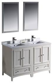 58 Double Sink Vanity 48 Inch Double Sink Bathroom Vanity In Antique White Antique