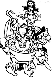 pirate color coloring pages kids miscellaneous