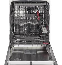 ge café series stainless interior built in dishwasher with hidden
