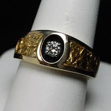 diamond men rings images Diamond nugget mens ring 14k yellow goldhytrek 39 s jewelers jpg