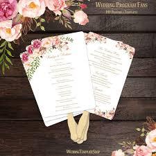 Fan Ceremony Programs 47 Best Wedding Program Fans Diy Printable Templates Images On