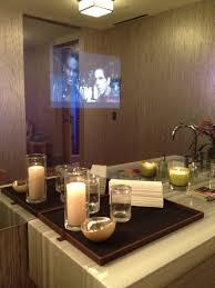 Tv In Mirror Bathroom by Bedding Chez Elza