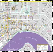 New Orleans Street Car Map by Streetwise New Orleans Map Laminated City Center Street Map Of