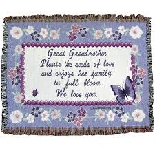 amazon com great grandmother throw blanket gift for great