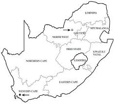 africa map black and white map of south africa showing the localities of the two cases the
