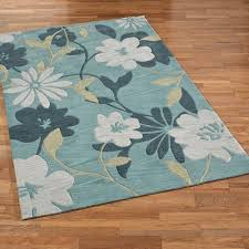 Brown And Turquoise Area Rugs Botanical Elegance Seafoam Floral Area Rugs