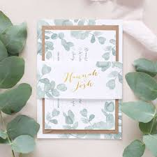 Wedding Invitation Bundles Eucalyptus Wedding Invitation Package U2013 Blush And Gold