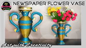 Best Flower Food Newspaper Flower Vase Flower Pot Paper Craft Best Out Of