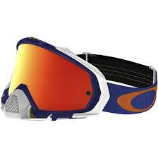oakley goggles motocross oakley mayhem pro mx shockwave blue orange fire iridium goggles