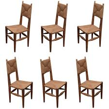 set 6 charlotte perriand dining chairs at 1stdibs