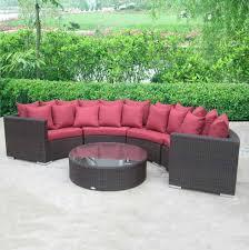 Rattan Curved Sofa Furnitures Rattan Furniture Type Garden Lowes Garden