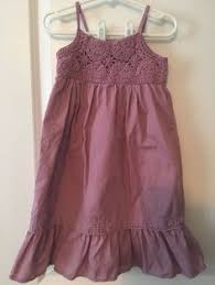 babygap baby toddler girls dress size 12 18mo purple gray striped